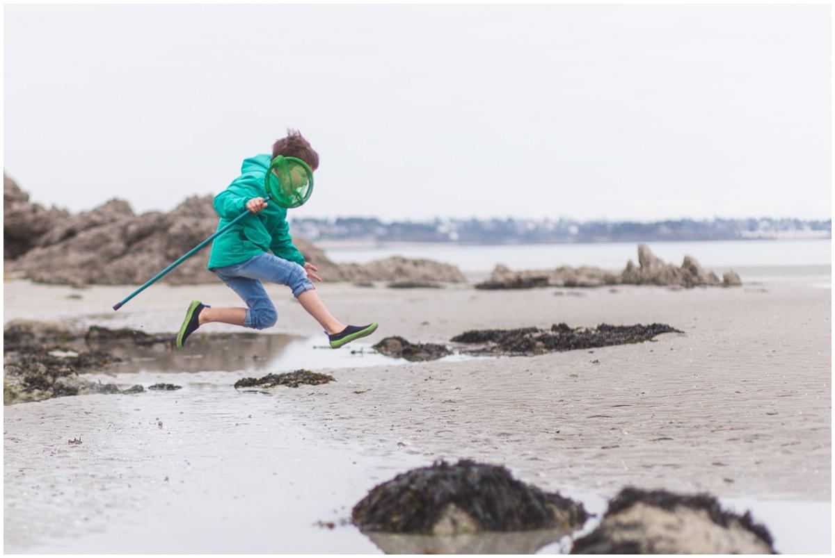 Séance photo enfants à la mer