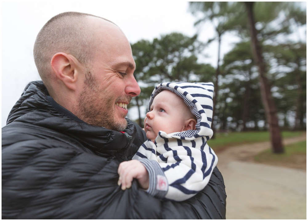 Reportage photo bébé en bord de mer