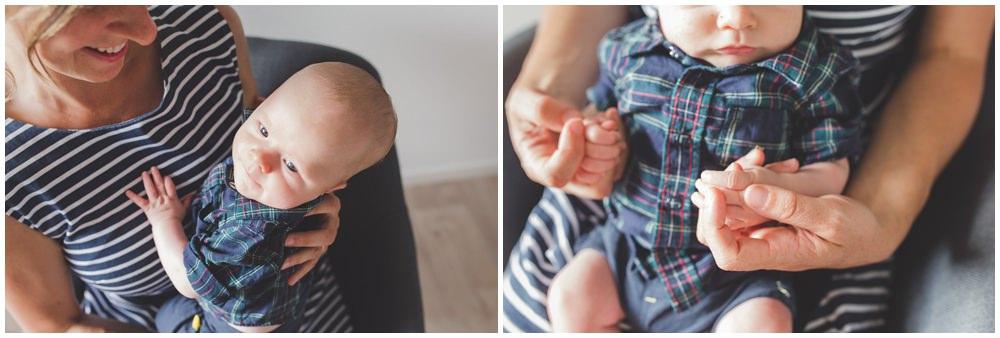 Séance photo à la maison pour leur premier bébé
